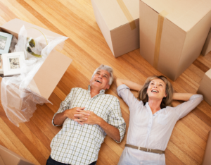 Happy Couple Moving into Arlington Rental Home