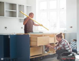 A Couple Renovating a Kitchen in their McDonough Rental Property