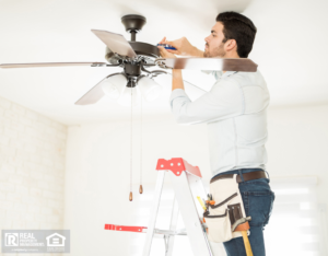 Handyman Installing a Ceiling Fan in Chelsea