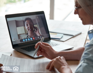 Pelham Property Manager on a Video Call with a Remote Investor