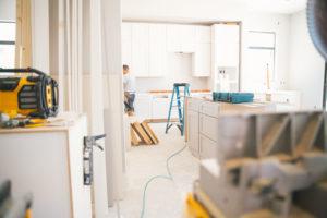 Leland Property Manager Renovating a Rental Property Kitchen