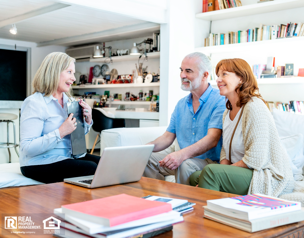 Elderly Couple Chatting with Landlord in their Essex Rental Home