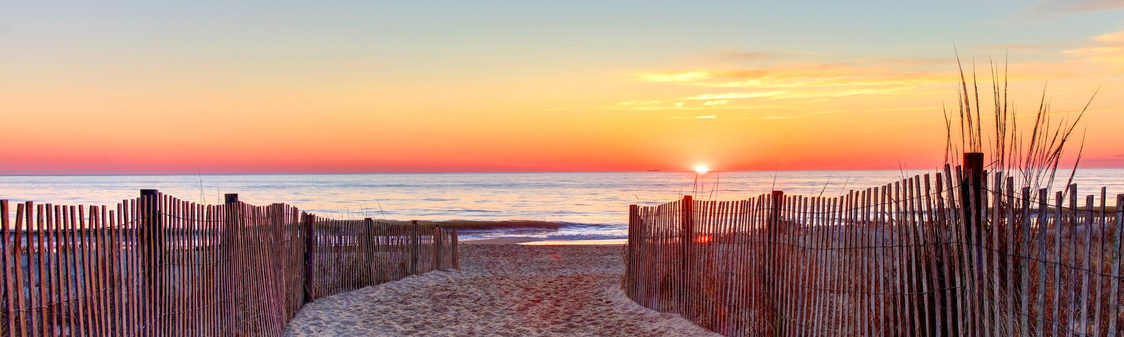 Sunset at Rehoboth Beach in Delaware