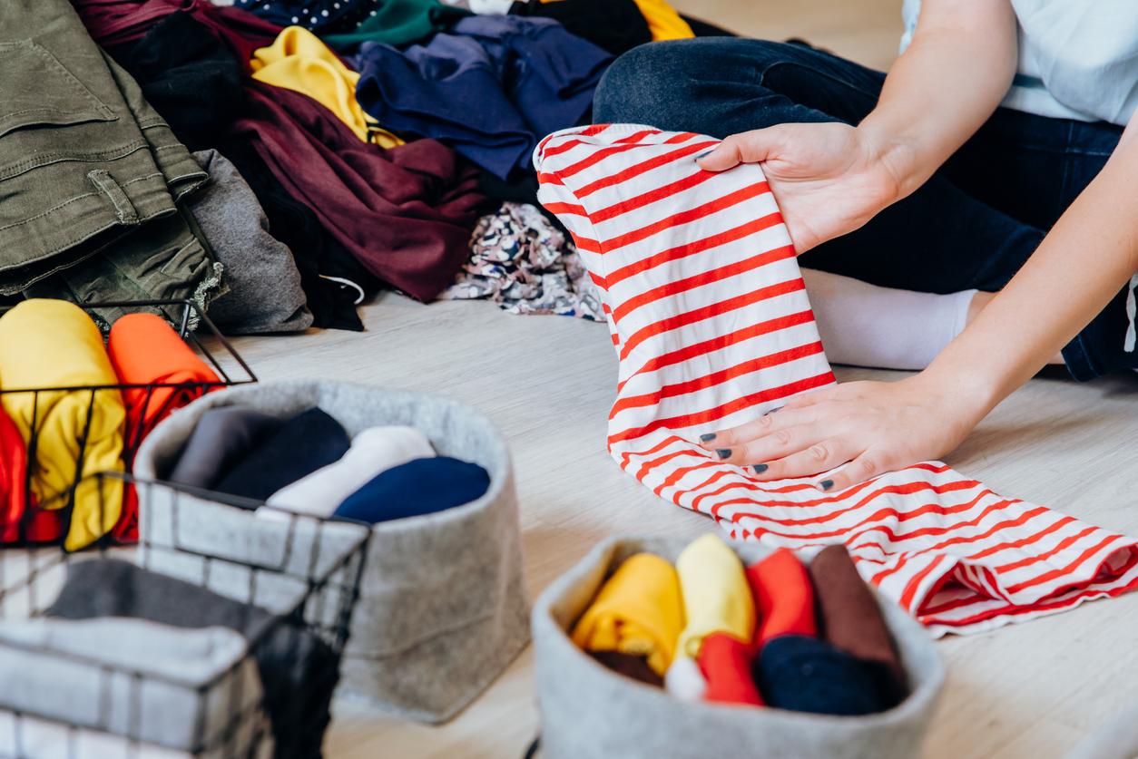 Tigard Woman Decluttering Wardrobe