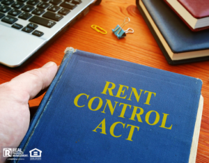 A Book Titled Rent Control Act on a Desk