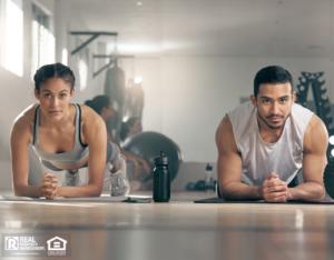 Tenants Exercising in their Arlington Rental Fitness Center