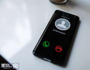 Smartphone with Incoming Call from Potential Scammer