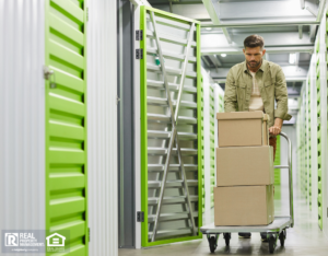 Layton Man Moving Boxes into a Storage Unit