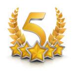 five star badge reward