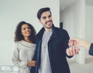 Richmond Heights Tenants Receiving Keys to their Rental