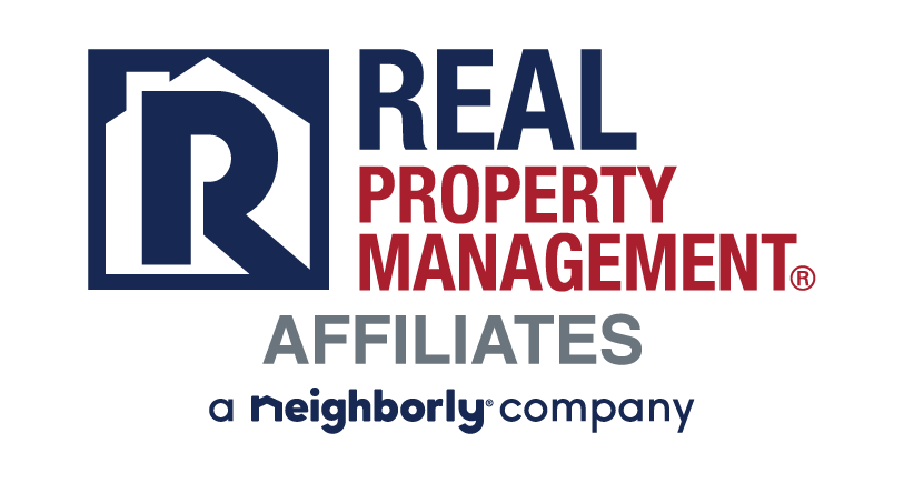 Real Property Management Affiliates red and blue logo
