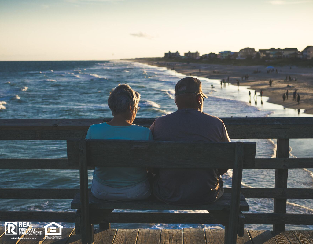 A Retired Couple from Platte City Sits on a Pier