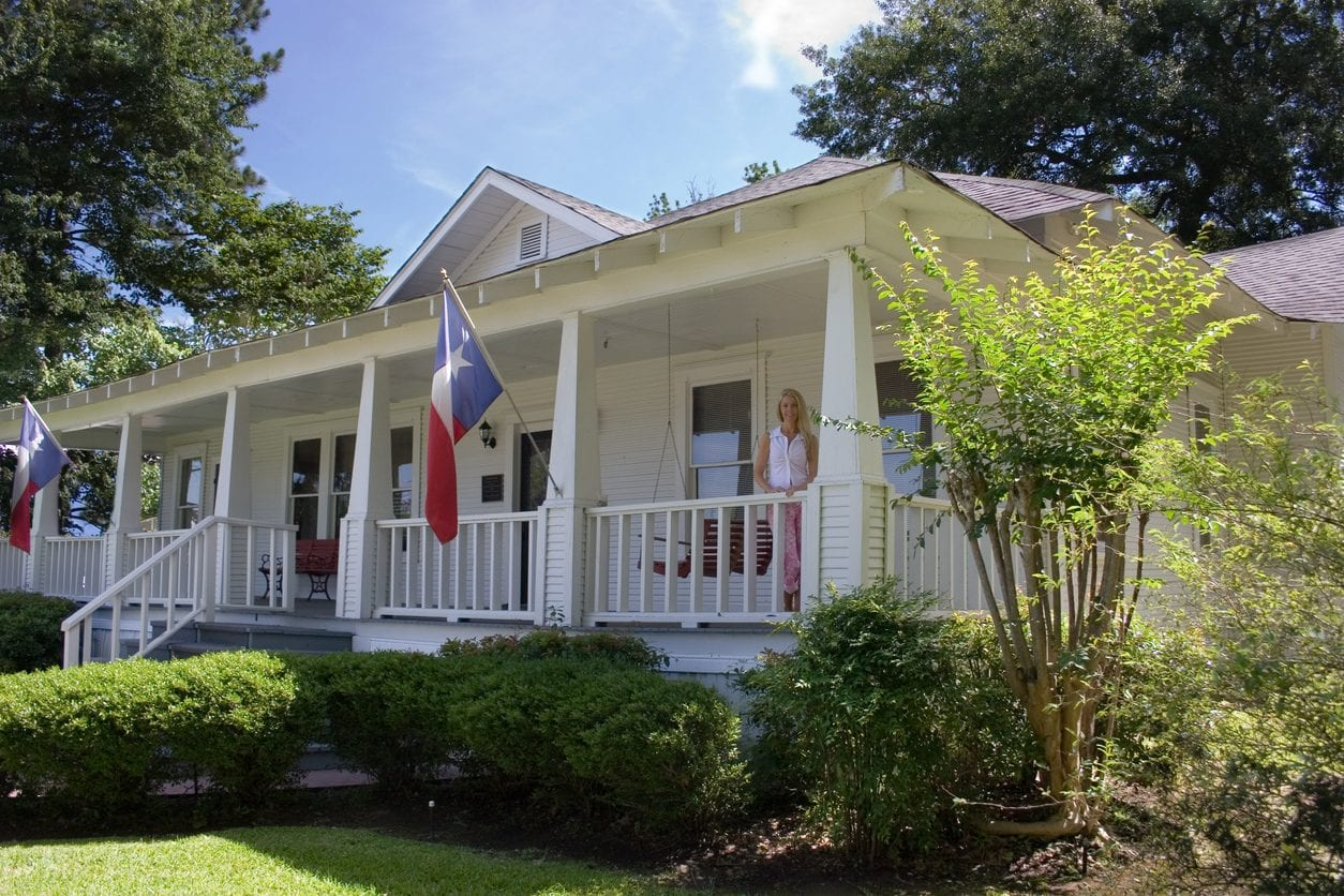 Old historical home in southern USA