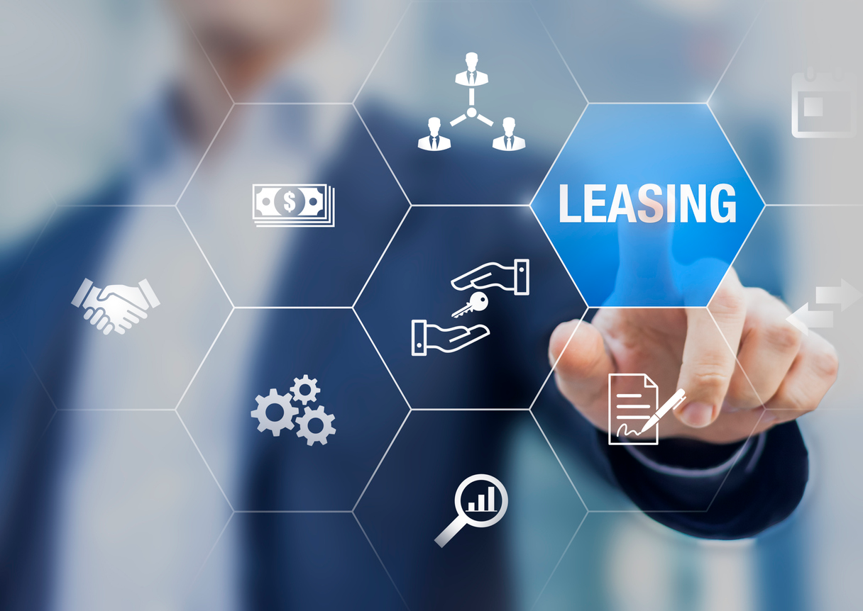 Hands Holding Leasing Agreement Icons