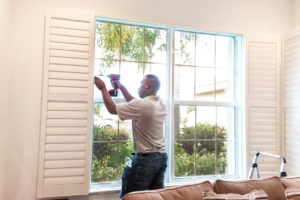 A window installer in a residential home