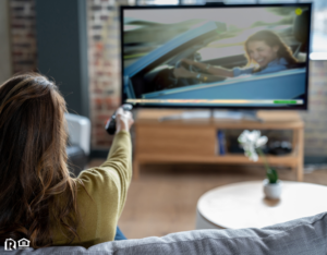 Wexford Tenant Relaxing at Home Watching Cable TV