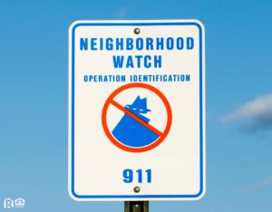 East Providence Neighborhood Watch Sign