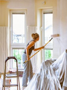 Marietta Rental Home Interiors Being Repainted by a Resident