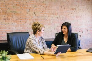One Individual Interviewing Another in an Office Setting