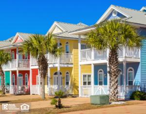 Colorful Houses in Panama City Beach Florida USA