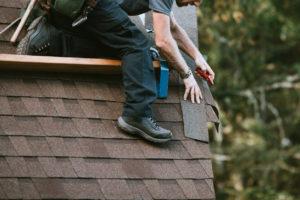 General Contractor Installing New Roof on Lexington Park Rental