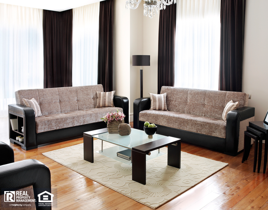 National Harbor Living Room with Vinyl Floors