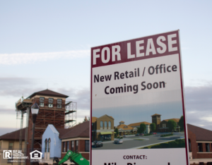 For Lease Sign at a White Plains Commerical Property