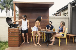 Southfield Tenants Enjoying the Deck in the Backyard