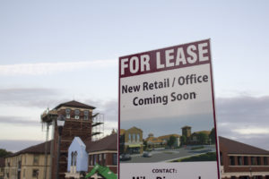For Lease Sign at a Royal Oak Commerical Property