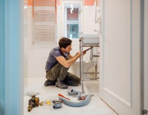 Miramar Landlord Fixing a Sink in the Bathroom