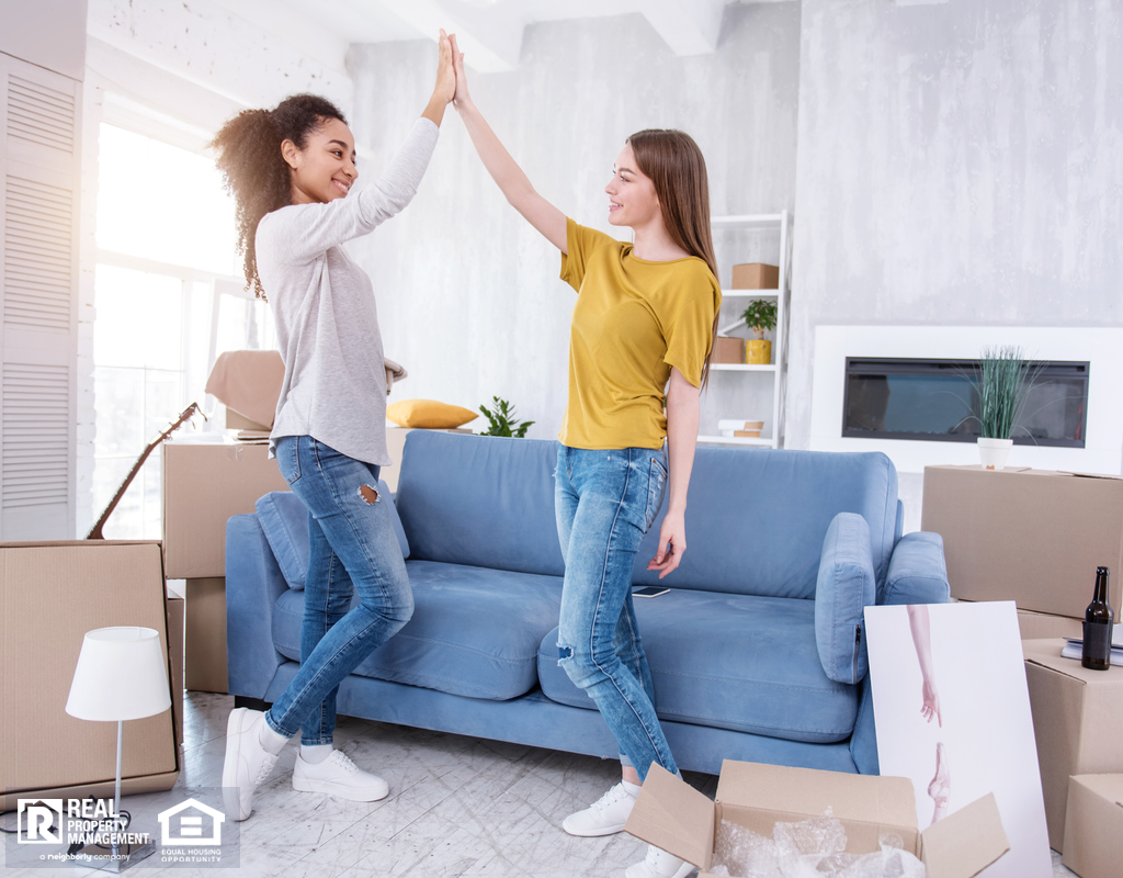 Happy Coral Springs Roommates Moving Into a New Home
