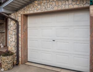 View of the Garage Door on a Dover Rental Property