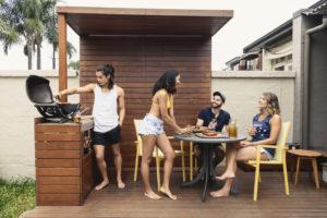 Dover Tenants Enjoying the Deck in the Backyard