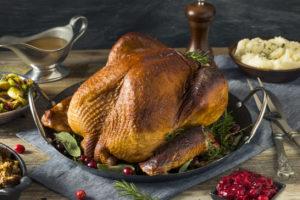 Homemade Smoked Turkey Dinner for Thanksgiving Dinner in Boston