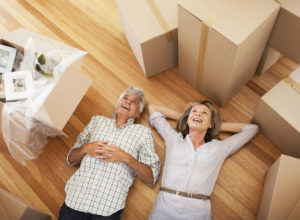 Happy Couple Moving into Boston Rental Home