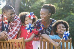 Boston Family Celebrating Memorial Day