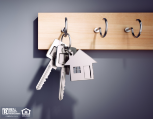 Keys to a Shoreline Rental Hanging on a Hook