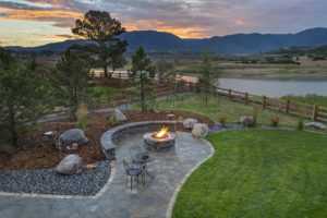 A Newly Landscaped Backyard in a Spring Rental Property