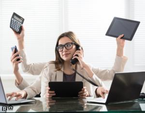 Hanover County Multitasking Businesswoman