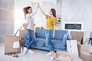 Happy Chesterfield County Roommates Moving Into a New Home
