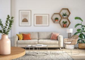 Steel Creek Living Room with a Myriad of Helpful Houseplants